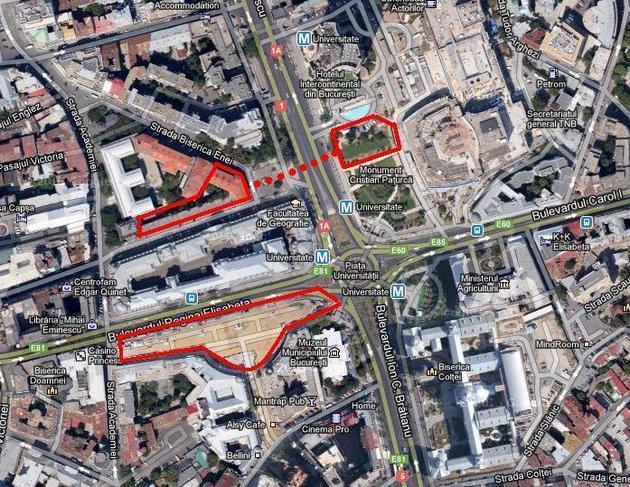 Se pregăteşte încă o parcare subterană în Centrul Capitalei. Firma care a construit parcarea de la Universitate propune un proiect ambiţios